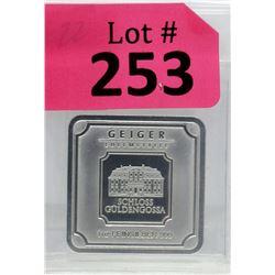 1Oz Geiger Edelmetalle .999 Silver Bar