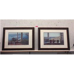 "2 Large Framed Prints - 40"" x 29"""