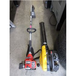 Gas Powered Homelite Trimmer & Mac Blower