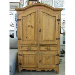 Large Pine Wood Armoire