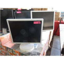 "Three Assorted 19"" Monitors - Untested"