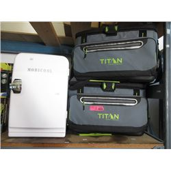 Mobicool Mini Fridge & 2 Titan Cooler Bags