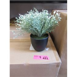 """4 Cases of New 9"""" Tall Artificial Plants in Pots"""