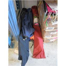 3 Patio Umbrellas & 2 Camp Chairs - Store Returns
