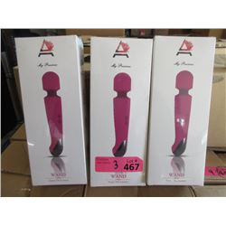 3 New Ammelee Cordless Vibrator/Massagers