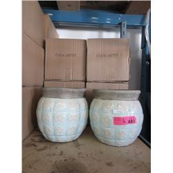 6 New Glazed Pottery Planter / Vases