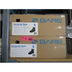 2 Pairs of New Bare Fishing Boots - Size 5