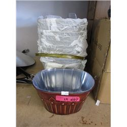 "24 New Metal Planters - 7"" x 9"" x 5"" tall"