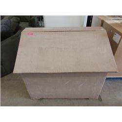 Large Wood Storage Box with Angled Lid