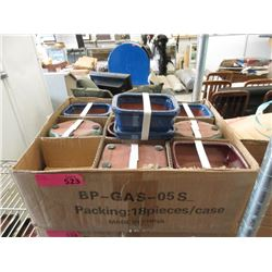 Case of 18 New Small Planters with Drip Trays