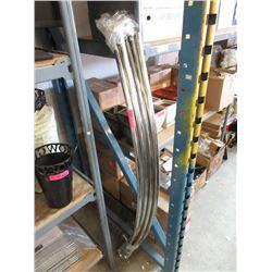 6 Curved Shower Rails