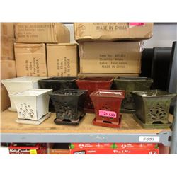 Case of 4 New 3 Piece Planter Sets w/ Drip Trays