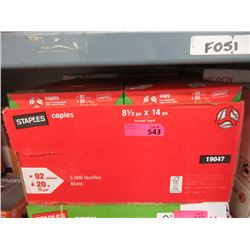 "Case of 8.5"" x 14"" White Legal Size Copy Paper"