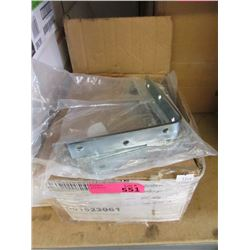 Case of 100 New Zinc Brackets