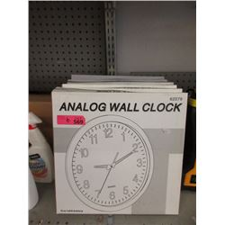 "6 New 14"" Wall Clocks"