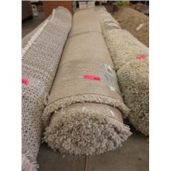 Beige Shag Area Carpet - 7 x 10 Feet -Store Return