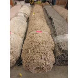 Tan Shag Area Carpet - 7 x 10 Feet -Store Return