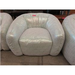 New Upholstered Glitter Fabric Tub Chair
