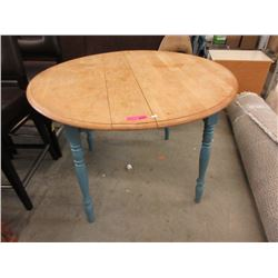 "42"" Round Wood Farm Style Table"