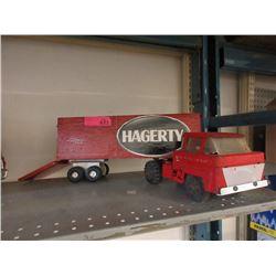 """1960s Marx Lumar 23"""" Transport Truck"""