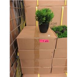 """4 Cases of 6 New 9"""" Artificial Plants"""
