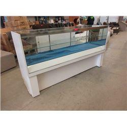 Glass Retail Display Case with Glass Shelf