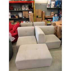 5 Piece Beige Fabric Sectional - Store Return