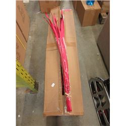 "Case of 46"" New Red Faux Grass"
