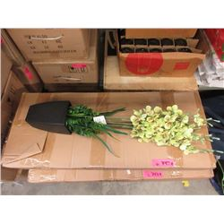 "2 Cases of 6 New 27"" Artificial Plants in Pots"