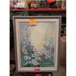 Original Oil Painting of Daisies