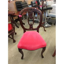Carved Mahogany Balloon Back Chair