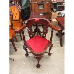 Vintage Mahogany Corner Chair