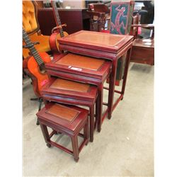 4 Piece Rosewood Nesting Table Set