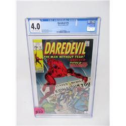 """Graded 1971 """"Daredevil #75"""" 15¢ Marvel Comic"""