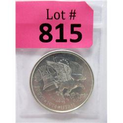 """1 Oz. .999 Fine Silver """"2014 Provo Utah"""" Round"""
