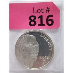 "2013 1 Oz. .999 Fine Silver ""Lakota Bison"" Round"