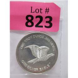 """1 Oz. .999 Fine Silver """"One Silver Eagle"""" Round"""