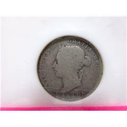 Graded 1894 Canadian .925 Silver Quarter