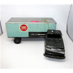 1950s Rare Private Label SEARS Semi-Trailer