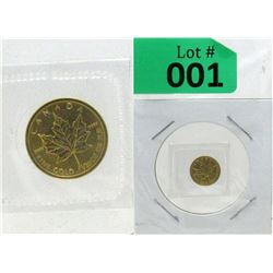 1/20 Oz 2009 Canada Maple Leaf .9999 Gold Coin