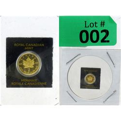 1 Gram 2015 Canada Maple Leaf .9999 Gold Coin