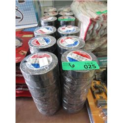 6 Bundles of 10 Rolls of Black PVC Electrical Tape