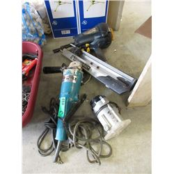 Air Nailer Makita Angle Grinder & Mini Router