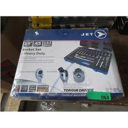 New Jet 45 Piece Heavy Duty Socket Set