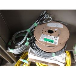 Spool of Hobart Welding Wire & 3 Steel Cables