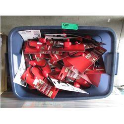 Tote of Husky Storage Hooks - Approximately 50