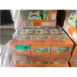 3 Flats of Perrier L'Orange Natural Mineral Water
