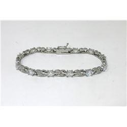 6.84 CT Diamond & White Topaz Tennis Bracelet