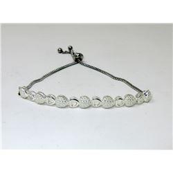 Sterling Silver Multi Heart Diamond Bracelet