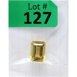 17.5 CT Emerald Cut Citrine Gemstone
